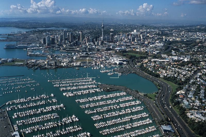 Aerial Photo of Westhaven Marina & Auckland Skyline